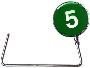 Number 5 line purse hook